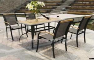 China Aluminium Bar Table And Chairs , Backyard Pool Furniture UV Resistance on sale