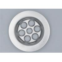 China High Grade Silver Metal Sink Strainer , Kitchen Sink Strainer Waste Plug on sale