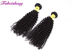 China Unprocessed Peruvian Human Hair / Deep Curly Hair Weft For Women on sale