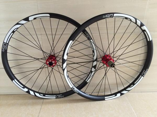 29er full carbon fiber mtb rim 30mm width hookless MTB carbon rims