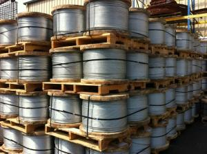 China Messenger WIRE 9 16 Galvanized Guy Wire For Liquid Natural Gas Tanks on sale