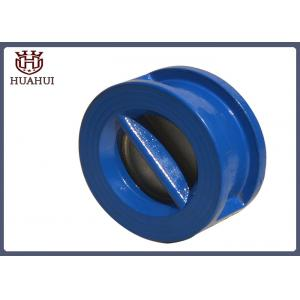China Wafer Type Flanged Check Valve Blue Color Stainless Steel Stem Cast Iron Disc on sale