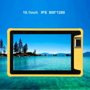 China Android 10 3G 4G LTE MTK6737 Quad core rugged android tablet PC with biometric fingerprint NFC reader on sale