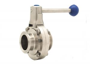China Pneumatic Butterfly Valve Sanitary / Manual Tri Clamp SS304 Clamp Connection on sale