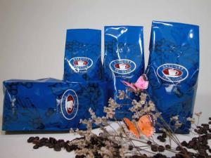 China Valve / Zipper Tea Packaging Bag Blue Gusset Side Colorful Printed Matte Finish on sale
