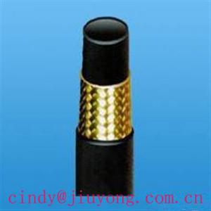 China Высоким шланг давления заплетенный проводом гидравлический резиновый (САЭ100Р1) on sale