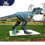 Water - Proof Outdoor Dinosaur  / Spray Water And Smoke Vivid Animatronic Dinosaur Model