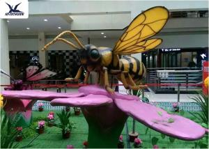 China Outdoor butterfly Animatronic Animals Realistic Custom Insects Flower Decoration on sale