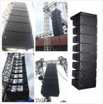 most powerful outdoor line array with small size LA-310 3 way dual 10 inch line array&LA-33 sub woofer