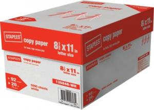 China Staples copy paper Letter Size 8.5*11,75gsm and 80gsm on sale