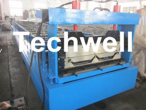 China Automatic Standing Seam Profile Roof Roll Forming Machine With 16 Forming Stations supplier