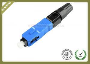 China Professional Fiber Optic Accessories SC UPC SM MM Fiber Fast Connector 52~55mm Length on sale
