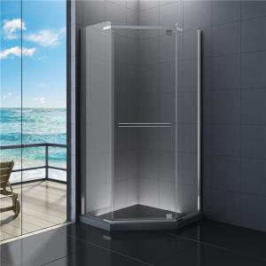 Diamond Bathroom Shower Enclosures Clear Glass Cabin 900 X
