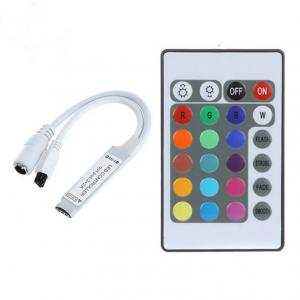 China Mini DC12V 24Key RGB Controller IR Remote Controller With Mini Receiver For 3528/5050 RGB LED Strip Light /Led Tape Cont on sale