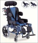 Многофункциональная алюминиевая кресло-коляска для пользы детей, повышаться легрест с проложенной поддержкой