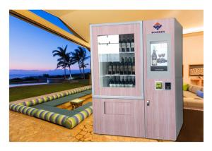 China Lift Refrigerated Wine Vending Machine , Champagne Beer Vending Kiosk on sale