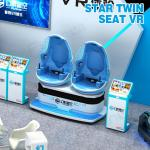 China Fun 9D Virtual Reality Cinema With Rotating Two Capsule Chairs / Roller Coaster Thrill Rides wholesale