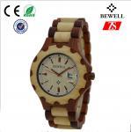 1ATMは女性のための水晶木製の腕時計/ハンドメイドの木の腕時計を防水します