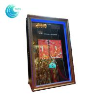 Led open air wedding photo booth 3d mirror me selfie photo booth