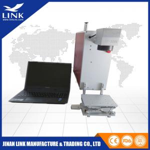China EZCAD Portable Laser Marking Machines Fiber Laser Marker With Alumimum Alloy Table on sale