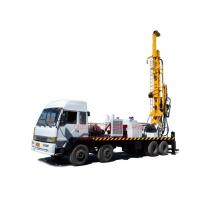 8X4 heavy duty truck mounted top head water well drilling rig by mud drilling and air compressor drilling