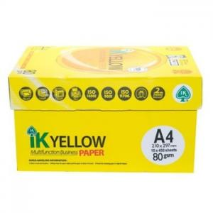 China IK Yellow copy Paper A4 80gsm/75gsm/70gsm on sale