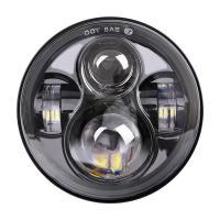 Black Automobile Led Headlights, Harley Davidson Led Motorcycle Headlight