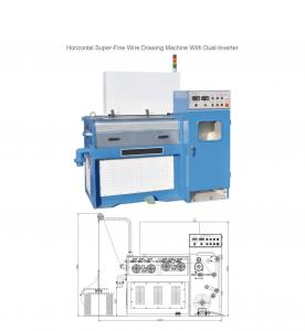 China 24D Horizontal Fine Wire Drawing Machine with dual-inverter on sale