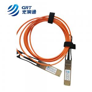 China QSFP+ 850nm Active Optical Cable 5m 40G QSFP+ to 4x10G AOC supplier