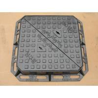 Black Bitumen Coated BS EN 124 Manhole Cover 2.5 Tonne Cast Iron 600mm x 450mm For Sale