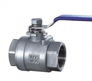 China 2 PC Type Stainless Ball Valve Threaded End BSPT / BSPP / NPT 316 / 304 Lever Operated on sale