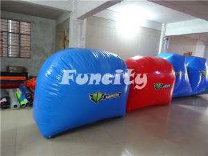 China Custom Paintball Bunker Inflatable Sport Games for 10 Person 68PC on sale
