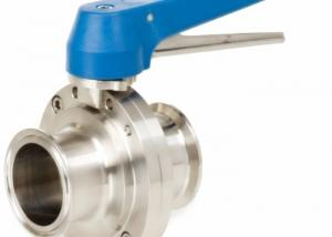 China High Performance 2 Inch Butterfly Valve Sanitary Grade With Forged Material Disk on sale