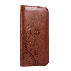 Quality Egg Flowers Universal Cell Phone Wallet Case , Durable Crazy Horse Leather Wallet Case for sale