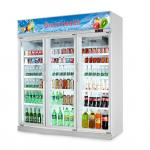 Flowers Drinks Commercial Beverage Cooler Display showcase With Double Doors