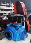 Rubber Lined Slurry Pumps 4 / 3 AH for Corrosive Applications for Mining Tailings Blue RAL5015