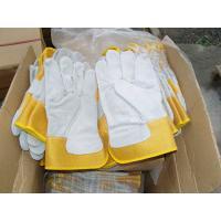 Full palm glove.heavy duty glove.cow letaher glove,rubberized safey cuff.single palm,leather glove,working glove