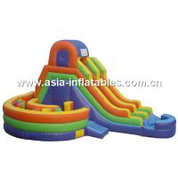 China Inflatable Round Pool Playground With Slide For Chilren Amusement Games on sale