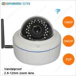 Vandalproof 2 Megapixel 1080p ONVIF Wireless IP Camera