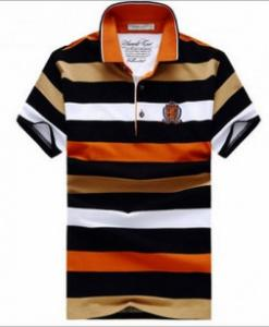 China Men's stripe print polo t shirt 100%cotton OEM Mens Polo Shirts on sale