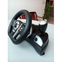 2 In 1 Bluetooth Dual Vibration Racing Games Steering Wheel For PS3 / PC