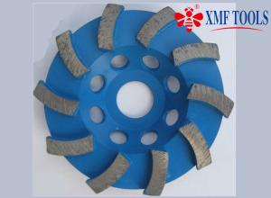 China 4  / 105mm  Turbo Angle Grinder Diamond Cup Wheel For Concrete Marble Blue on sale