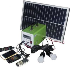China 20W mini solar light kits with controller LED display solar panel with solar generator pri on sale