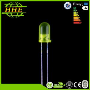 China Epistar Chip 5mm LED Diode , 20mA Yellow Color Dip LED module / emitter on sale