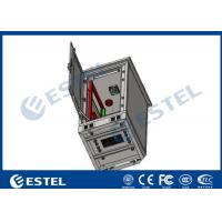 24U Single Wall Outdoor Telecom Cabinet With Fan Cooling Galvanized Steel Material
