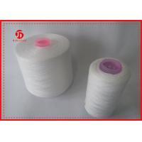 Kontless And Hairless 100 Percentage Spun Polyester Yarn , Dope Dyed Tube Yarn