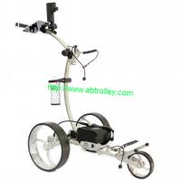 China New Germany Design Electric Golf Trolley with water-proof battery tray on sale