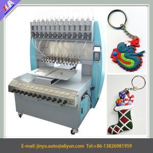 China 12 colors pvc keychain making machine, keychain dispensing machine on sale