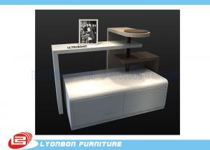 China Supermarket Fashionable MDF Retail Display Tables Custom For Presenting Shoes on sale