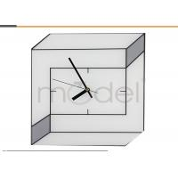 China Square Space Reverse Wall Clock Black And White For Art Collection on sale
